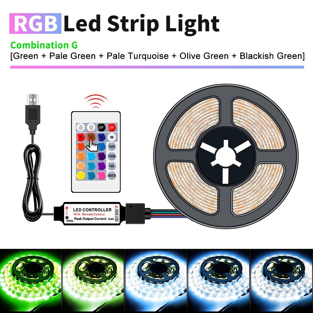 USB Tira RGBW LED Tira de la lámpara DC5V Flexible RGB cinta...