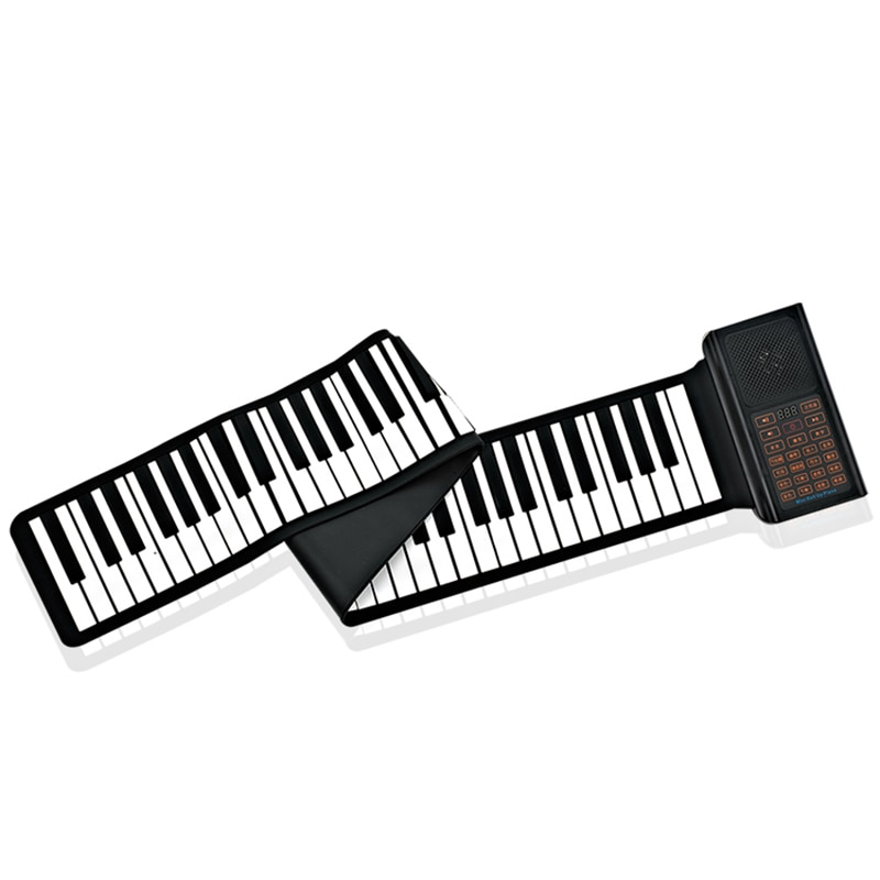 88 Key Roll Up Piano Foldable Electronic Keyboard Piano Children  Musical Instrument Built-in speaker  charged Midi Keyboard enlarge