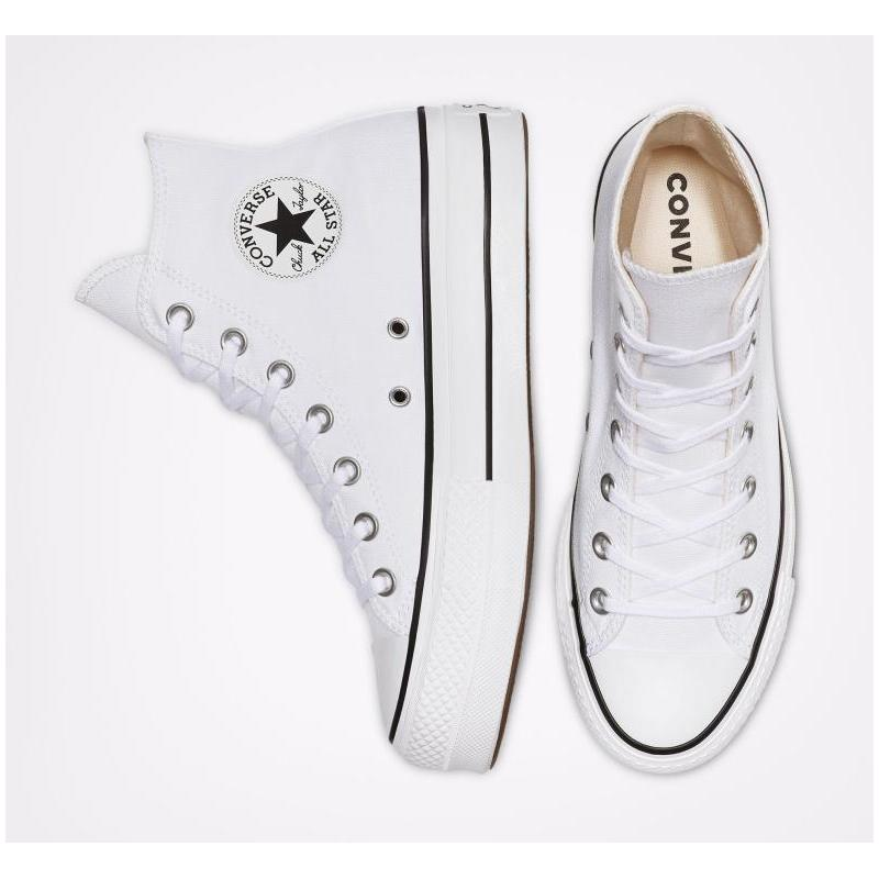 Converse Chuck informal fashion Taylor All Star women's, white sneakers high clean with platform