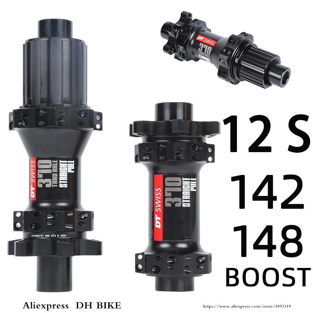 DT 370 BOOST hub Shiman0 12 velocidades 4 rodamientos MTB bicicleta de montaña trasera 100*15 12*142mm 148mm a través de 28 agujeros disco bicicleta ligera