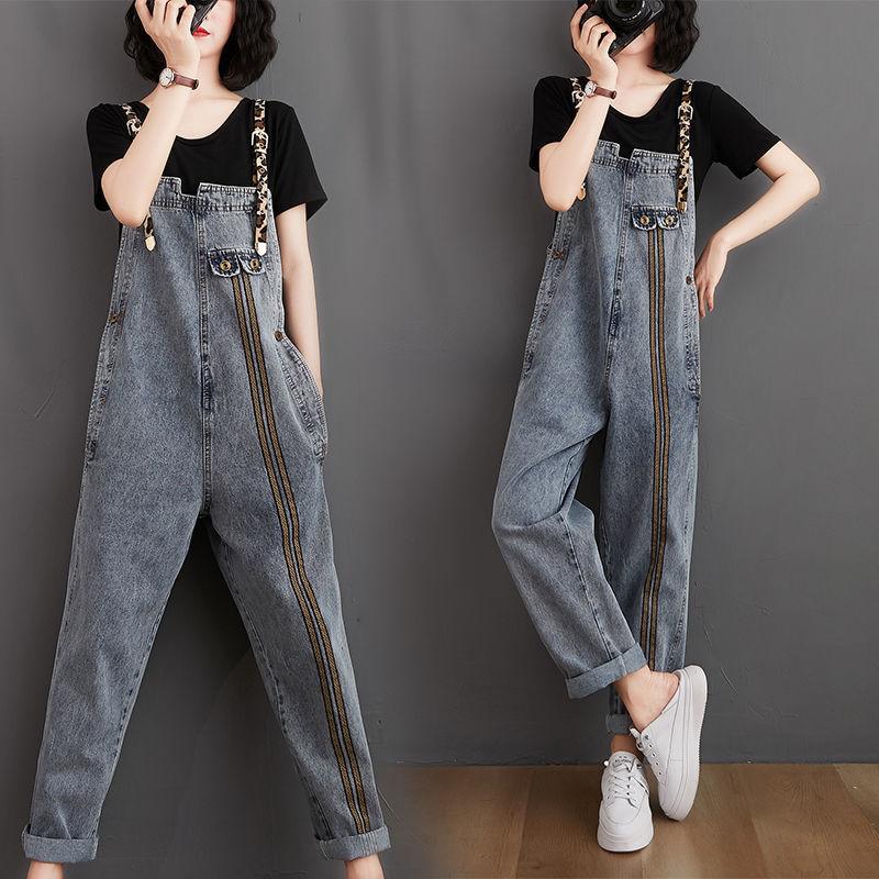 Женский джинсовый комбинезон, джинсовый комбинезон на бретельках в Корейском стиле для лета