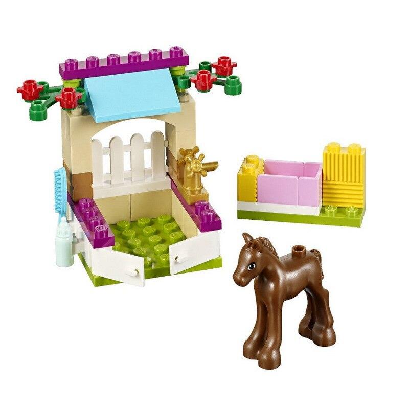 10533 Little Foal Horse conjuntos de bloques de construcción estables juguetes compatibles con 41089 mejor regalo para niñas