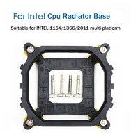 Процессор Вентилятор Cooler кронштейн держатель радиатора компьютер Пряжка для Intel LGA 1150 1155 1156 1366 2011 объединительная панель радиатора охлажден...