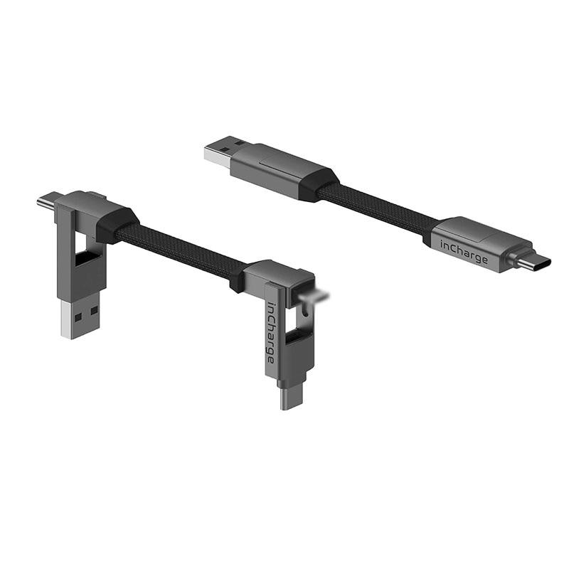 Incharge 6-محول كابل USB من النوع C ، محول ، محول طاقة ، نقل بيانات ، مقسم lightning ، متوافق مع iphone