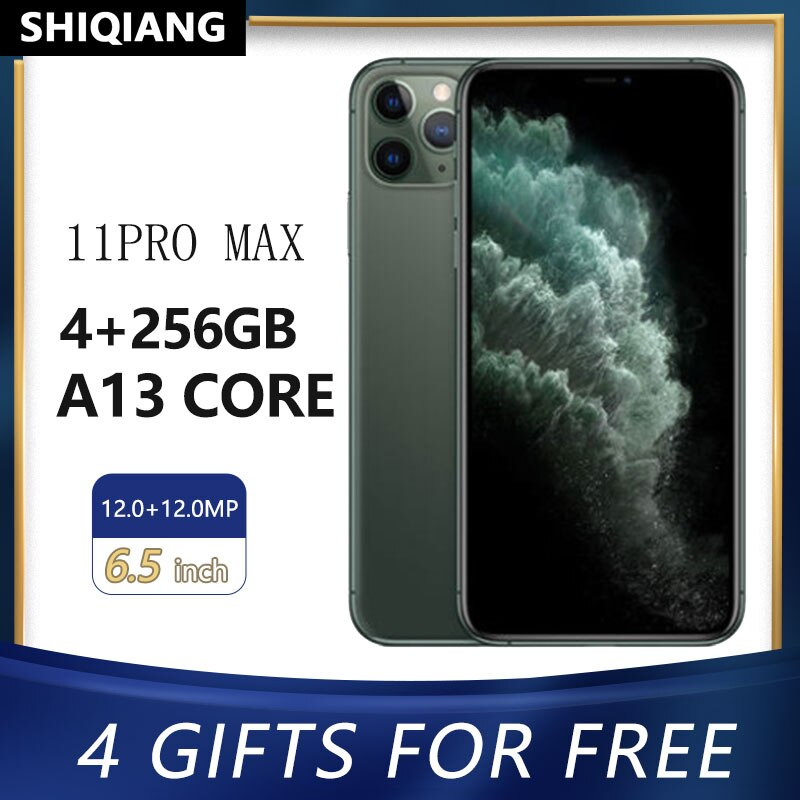 "Used Original Unlocked Apple iphone 11 Pro Max Mobile Phones Face ID 6.5"" IOS 4GB RAM 64/256GB ROM Hexa-Core NFC Cell Phones A13"