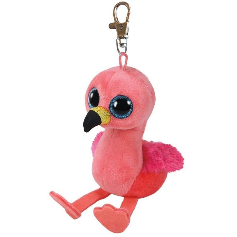 Ty Gilda, The Flamingos, Clip, peluches de animales, muñeco para llavero, regalo, 15cm
