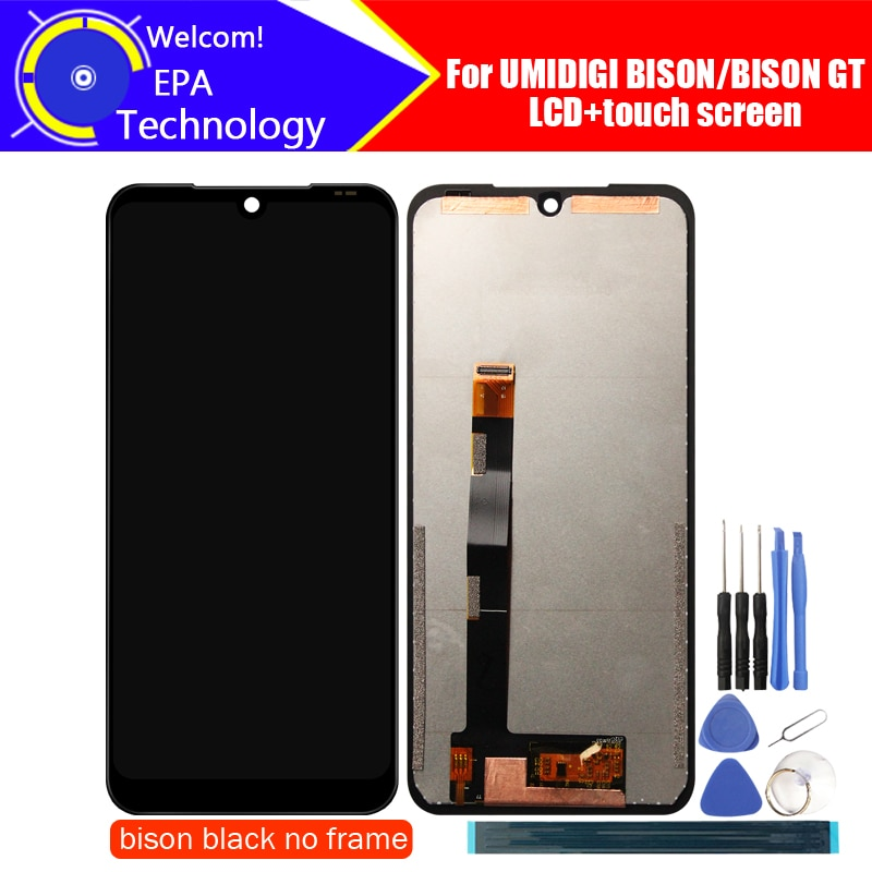 UMIDIGI BISON LCD Display+Touch Screen Digitizer 100%Original Tested LCD Screen Glass Panel  For UMIDIGI BISON GT+tools+Adhesive