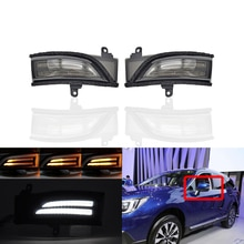 Fits For Subaru WRX STI Corsstrek Forester Impreza Legacy Outback Smoked Dynamic Led Side Mirror Blinker Lights White Position