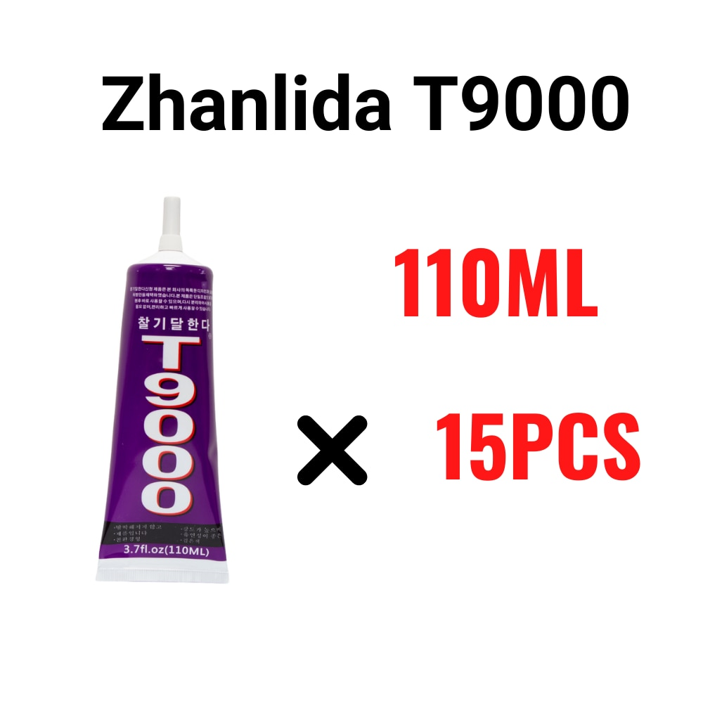 adesivo de contato transparente zhanlida t9000 110ml superforte e multiuso para conserto