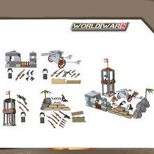 4 en 1 armée allemande militaire soldat WW2 SWAT équipe guerre Camouflage bataille scène arme pistolet blocs de construction Figure garçon jouet coffret cadeau