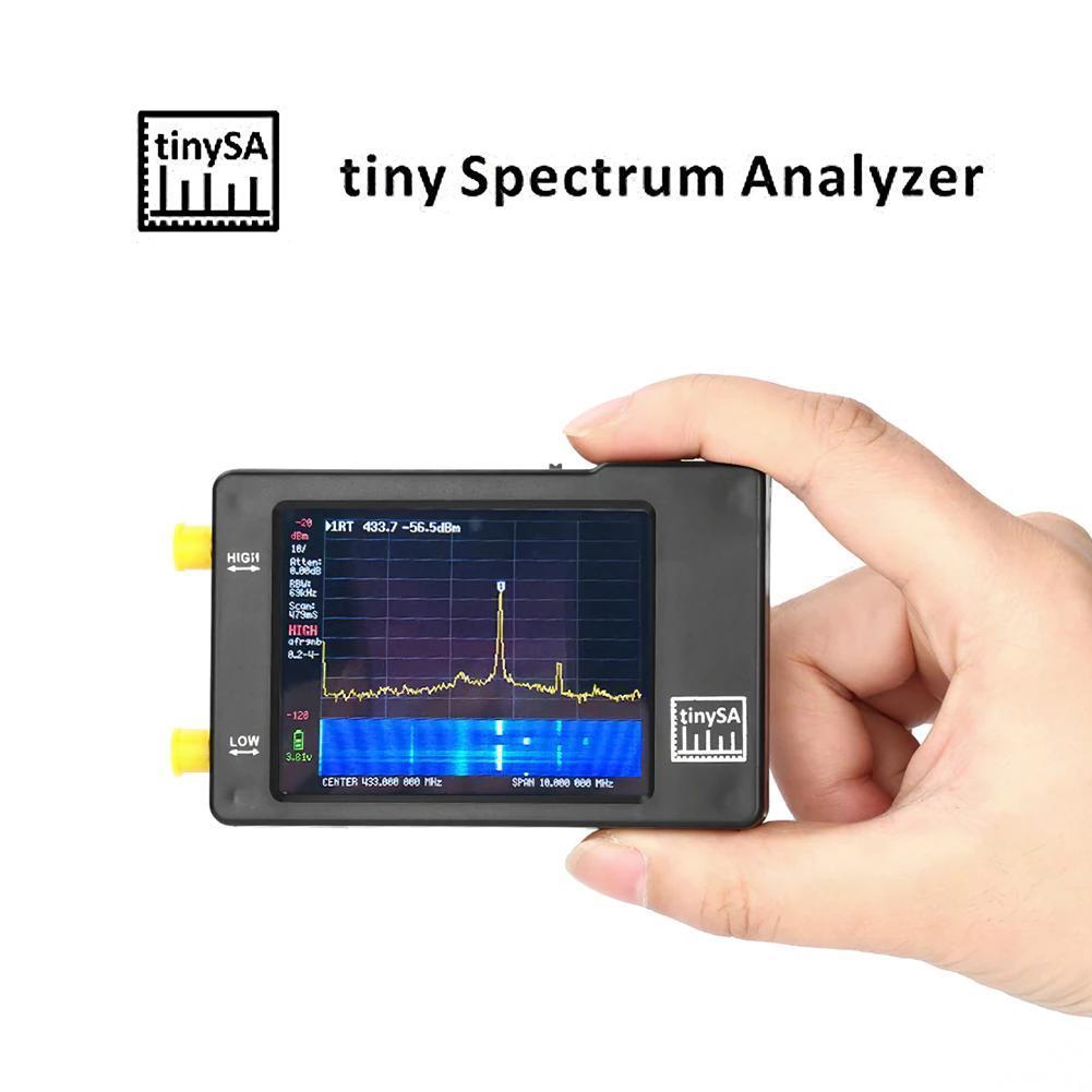 Анализатор спектра ручной TinySA 2,8 дюйма 100 кГц до 960 МГц анализатор спектра черный анализатор спектра счетчик спектра Swr