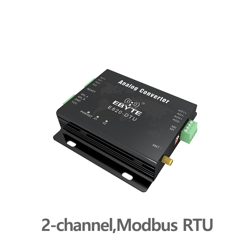 433MHz Modbus Wireless Transceiver Analog Acquisition 2 Channel  1W RS485 Interface 433 mhz RF Module E820-DTU(2I2-433L)