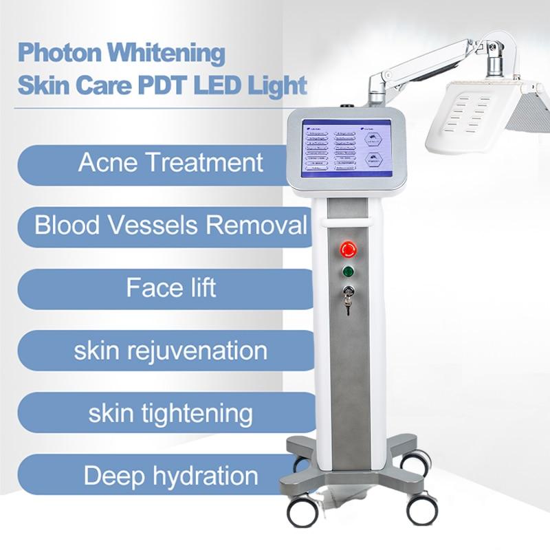 Terapia de Luz Rejuvenescimento da Pele Equipamentos do Salão de Beleza Melhor Profissional Fóton Tratamento Acne Pdt Facial Máquina Cuidados 2022 Led