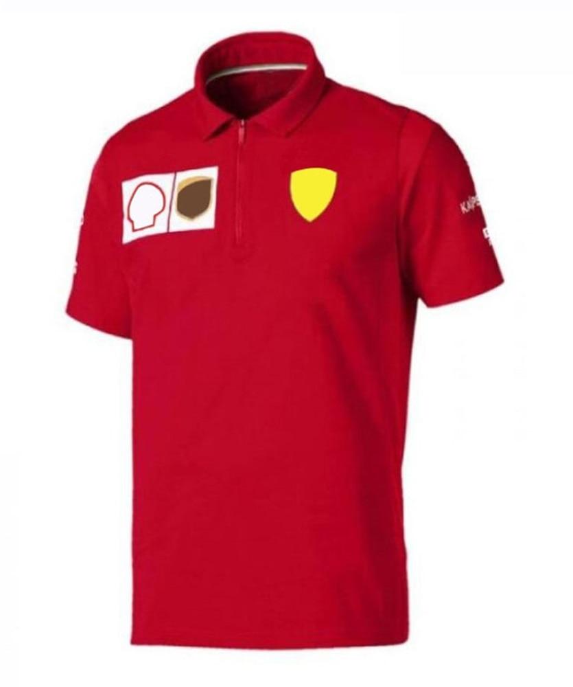 F1 формула один гоночный костюм с коротким рукавом Футболка Поло с лацканами одежда командная Рабочая одежда мужская на заказ