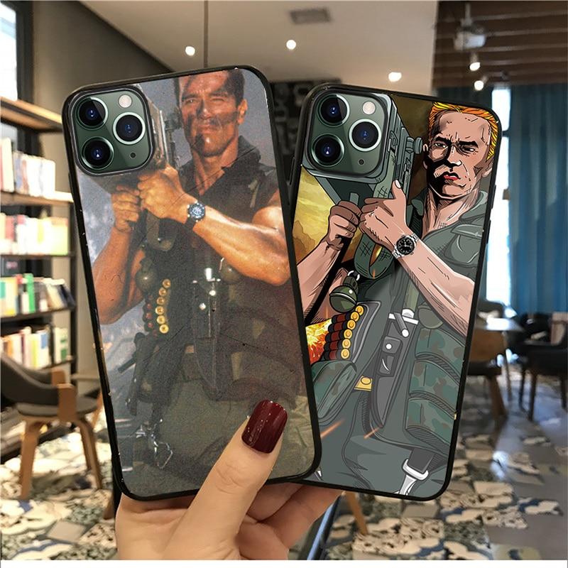 Yinuoda, película Commando 1985, funda de teléfono de cristal de silicona suave de Arnold Schwarzenegger para apple iPhone 11 Pro Max