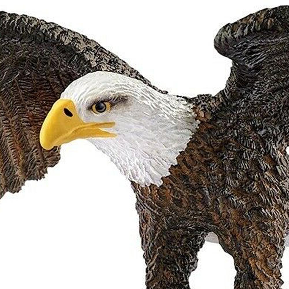 3,3 дюймов горячие игрушки Орел птица фигурка пластиковая модель животного Сказочный Сад Украшение Фигурка цельный подарок для ребенка