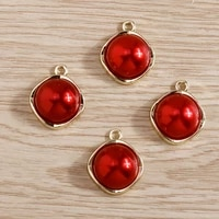 4pcs 1518mm trendy red charms pendants for making necklace drop earrings bracelets handmade diy jewelry crafts accessories