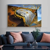 salvador dali the persistence of memory canvas paintings on the wall art posters and prints famous art pictures home wall decor