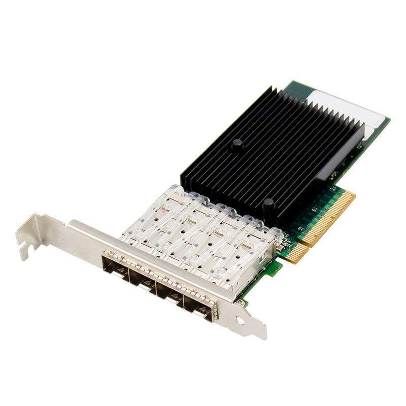 placa de rede optica pci e x8 gigabit servidor pcie 10gbe sfp cartao de rede optica para pc preto