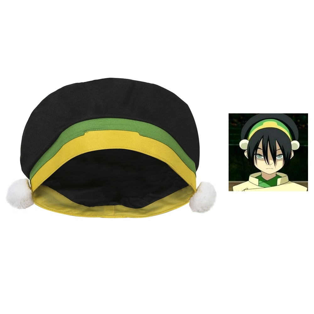 Avatar: The Last Airbender TophBeifong Hat Avatar Cute Toph bengfang Hats for Halloween Cosplay Props