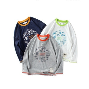 2020 autumn new products children's clothing boys long-sleeved T-shirt boys over 8 years old cotton top bottoming shirt