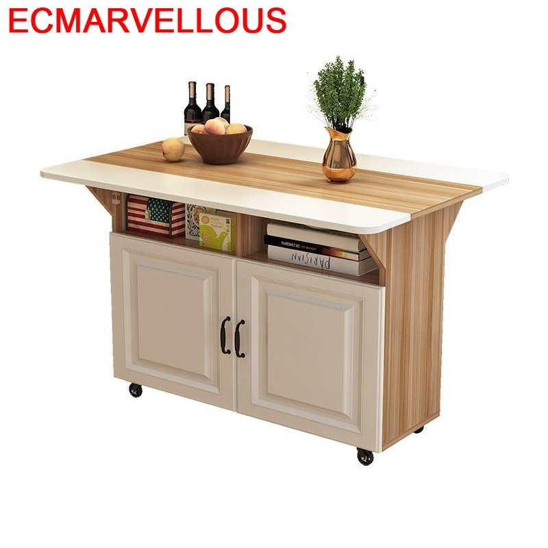 Mesa De Comedor portátil para exteriores, mueble De cocina Plegable, Mesa De...