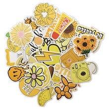 50 adet karikatür sarı INS tarzı Vsco kız çıkartmalar dizüstü Moto kaykay bagaj buzdolabı dizüstü dizüstü oyuncak etiket F5