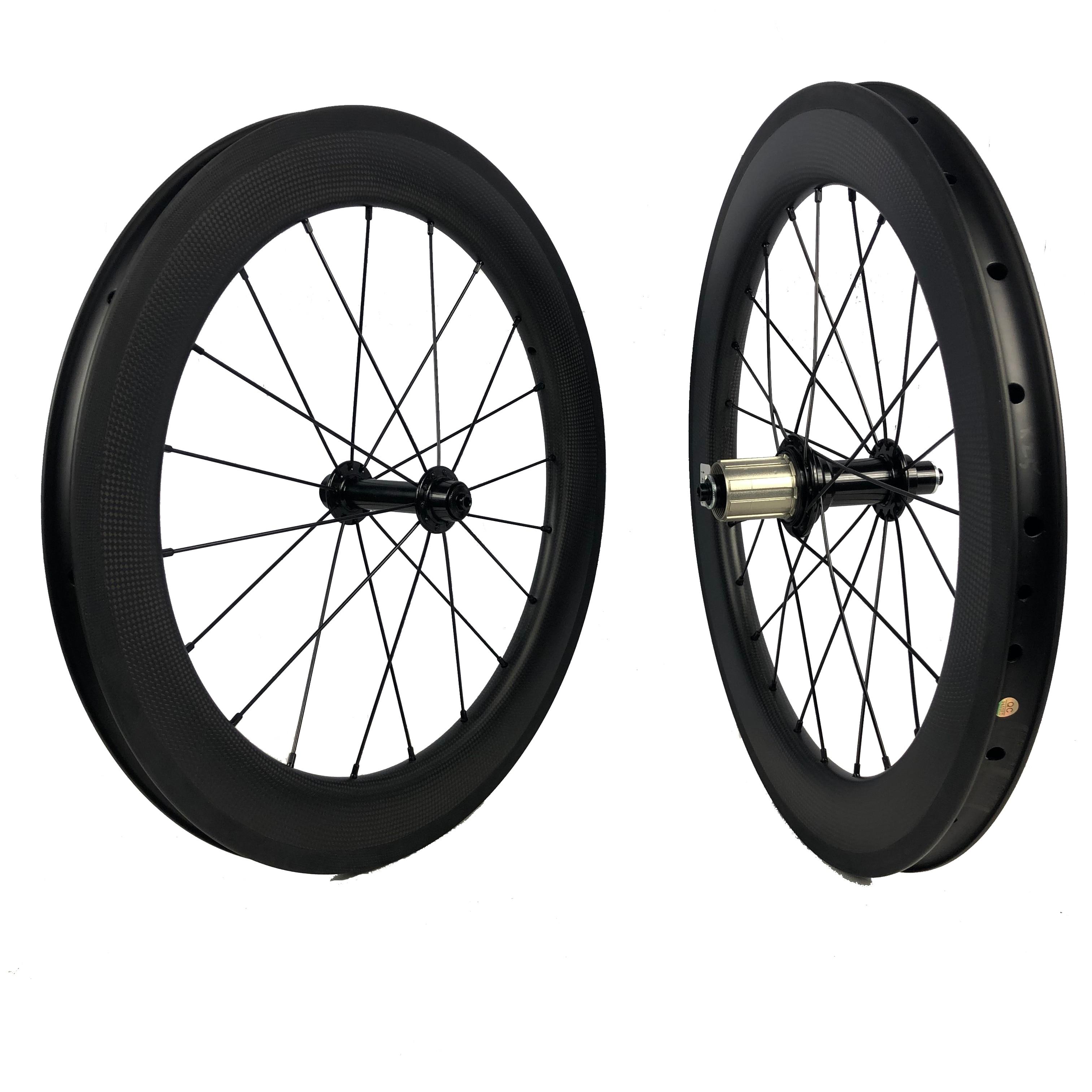Bicicleta plegable 20 pulgadas 406 fibra de carbono BMX ruedas/llanta V freno...