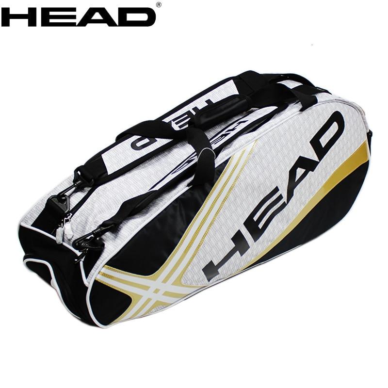 Large Capacity 3-6 HEAD Squash Tennis Rackets Backpack Men Professional Training Tenis Racquet Bag Single Shoulder Bags Handbag