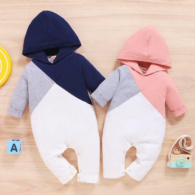 patpat 2020 spring and autumn new baby dinosaur print long sleeves 0 1 years jumpsuit one pieces baby boy clothes 2021 New Arrival Newborn Baby Hooded Jumpsuit Spring and Autumn Baby Boy Girl Clothes Long-sleeve Baby One Piece Romper