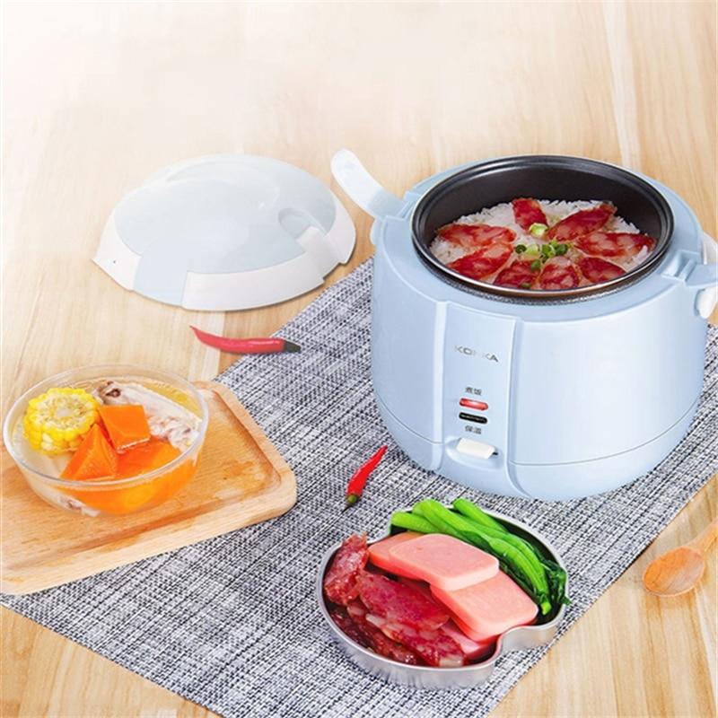 KONKA, olla de arroz eléctrica de 1,2 L, Mini cocina de Control con aplicación, máquina de cocción de arroz pequeña, pantalla LED inteligente para cita