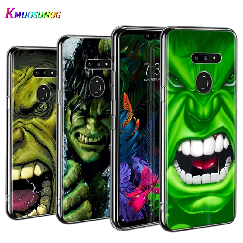 Funda de teléfono Delgado Hulk de Marvel, vengadores para LG W30 W10 V50S V50 V40 V30 K50S K40S K30 K20 Q60 Q8 Q7 Q6 G8 G7 G6
