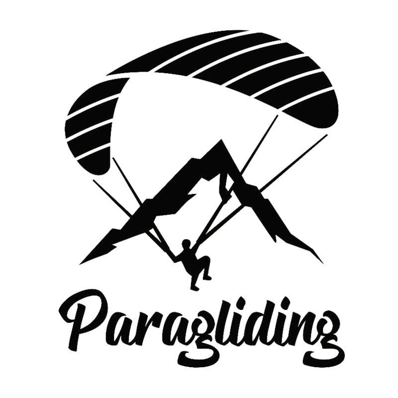 Dawasaru Paragliding Extreme Sport Auto Aufkleber Personalisierte Aufkleber Lkw Motorrad Auto Zubehör Dekoration PVC,17cm * 14cm