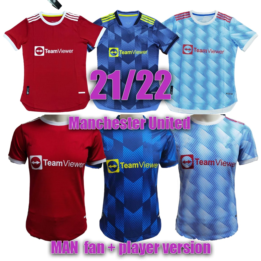 2021 2022 Manchester POGBA HUMANRACE B.FERNANDES UNITED RASHFORD United Soccer Football Jerseys Shirt 21 22 man Player Version
