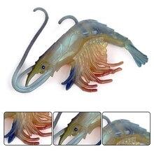 Bebé juguetes de biología langosta la vida marina modelo Animal figura de juguete de plástico de simulación de juguete con forma de gamba para regalo