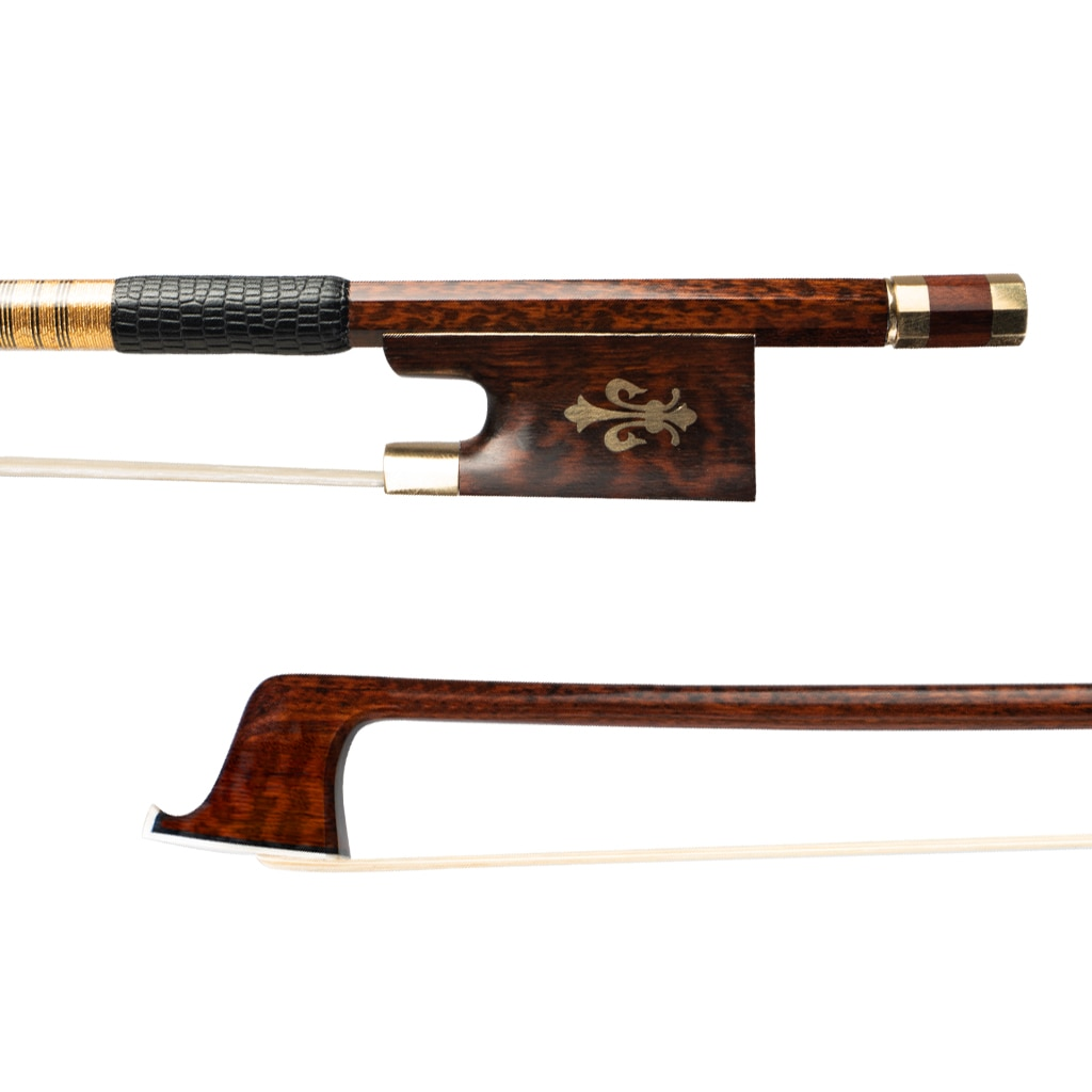Master 4/4 Size VIOLIN BOW Snakewood Bow Pernambuco Peformance Bow Stick Snakewood Frog Fiddle Bow Violin Parts Accessories enlarge
