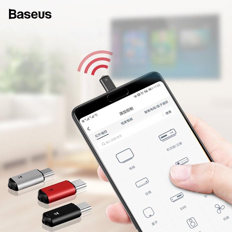 Baseus RO2 type-C Jack Универсальный ИК-пульт дистанционного управления для samsung Xiaomi умный инфракрасный пульт дистанционного управления для ТВ Кондиционер STB DVD