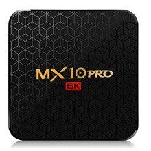 Nouveau MX10 Pro 4GB RAM 64GB Wifi TV Box Allwinner H6 6K Ultra-clair affichage Android 9.0 TV Box Quad Core USB 3.0 décodeur