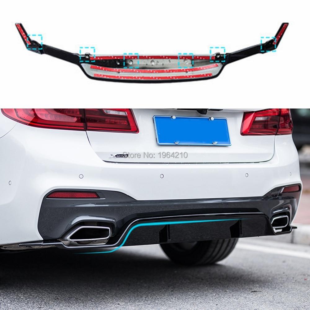 Para BMW G30 G31 nueva serie 5 530i 540i 2017 de 2018 de plástico ABS parachoques trasero difusor parachoques spoiler Protector estilo de coche