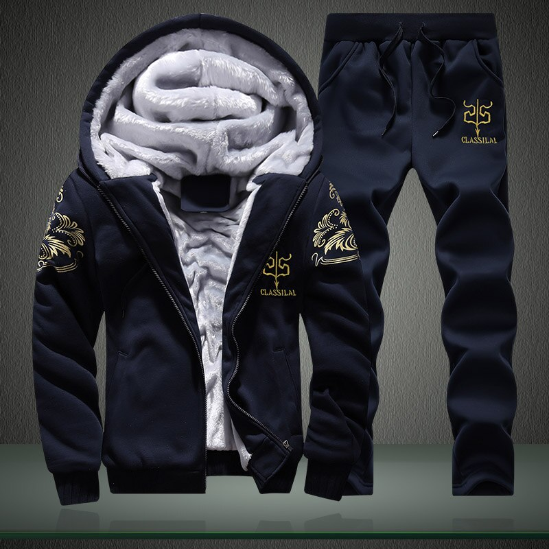 Sudadera con capucha de forro polar interno para hombre, ropa deportiva masculina...