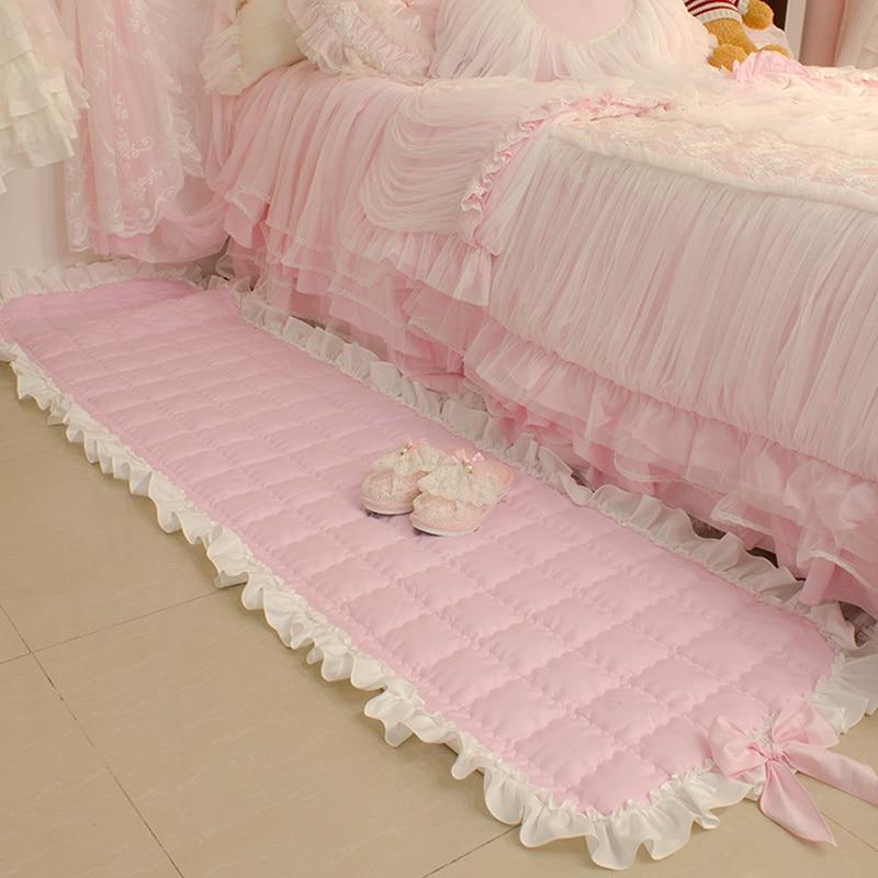 Super doce tapete romântico tapetes para sala de estar bowknot sala estar quarto tapetes plissado área tapete para o quarto sofá