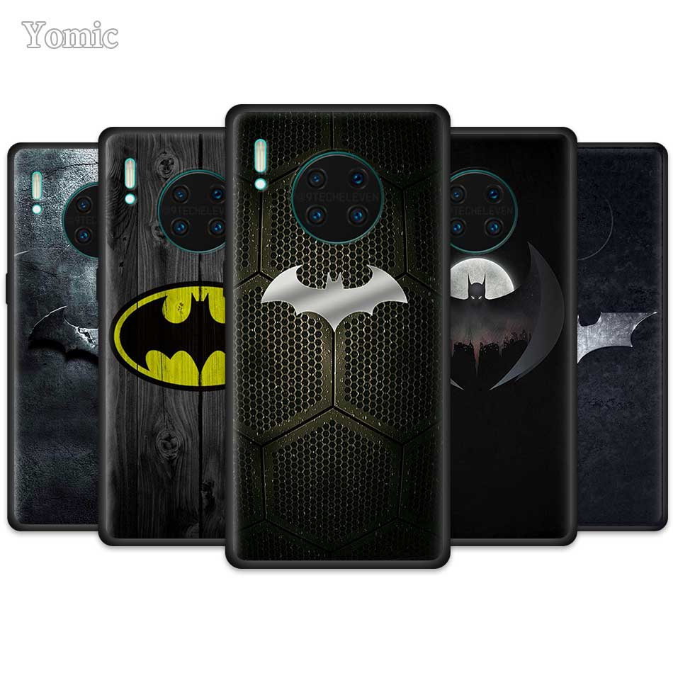 Kühle Marvel Batman Logo Fall für Huawei Mate 30 Y9 Prime Nova 5 5T 5i P30 Pro Honor spielen 3 3e 8X 10 Lite 5G Schwarz Silikon Abdeckung