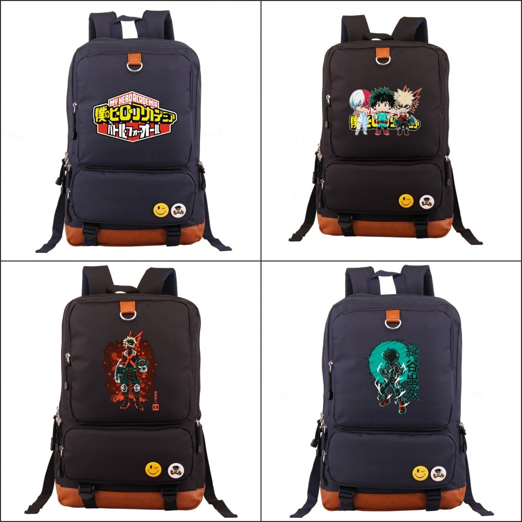 Mochila de dibujos animados My Hero Academia Midoriya Izuku, mochila para ordenador portátil para adolescentes, mochila de viaje, mochila escolar para estudiantes, mochila