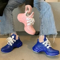 womens shoes 2021 summer new solid color diagonal heel sports shoes womens outdoor comfortable jogging casual sports shoes