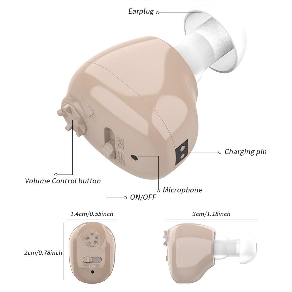 Фото - 2021 лучший Интеллектуальный слуховой аппарат, перезаряжаемый слуховой усилитель, слуховой аппарат для пожилых людей, усилитель звука для сл... слуховой аппарат zinbest vhp 220 l1154