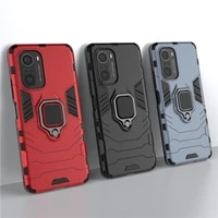 shockproof case for xiaomi poco f3 gt m3 pro 5g x3 nfc f2 pro pocophone f1 ring holder armor bumper cover phone cases poco f3