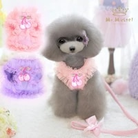 pet supplies cute lace chest dog leash cartoon dog leash dog supplies dog harness and leash set dog accessories dog clothes