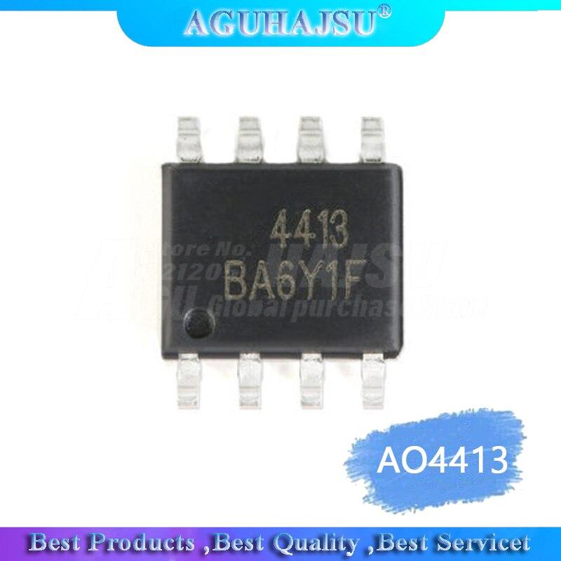 10 pçs/lote AON4413 AO4413 4413 Sop-8 Chipset