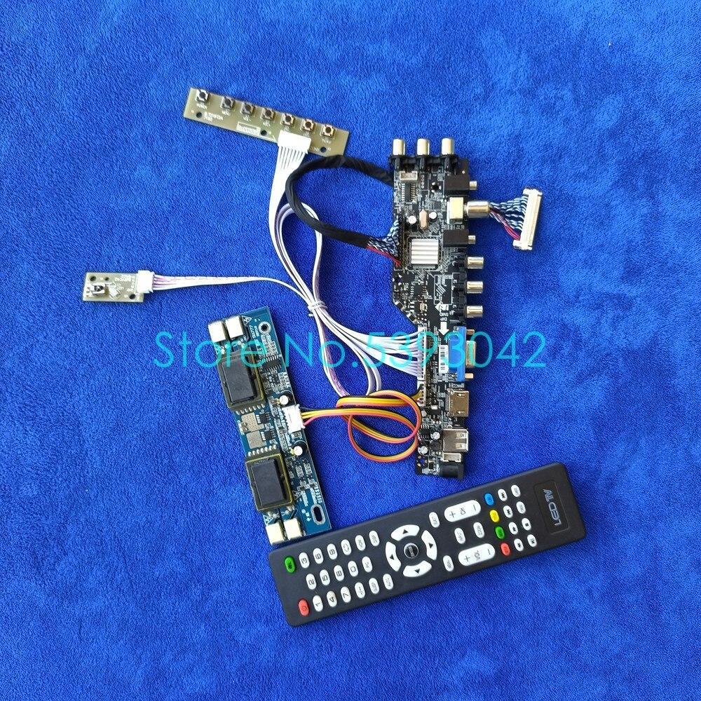 إشارة الرقمية DVB 1280*1024 LCD لوحة تحكم عدة 4CCFL 30 دبوس LVDS USB VGA صالح LQ170E1LG11/LQ170E1LG41/MTT170E1LG11 لوحة