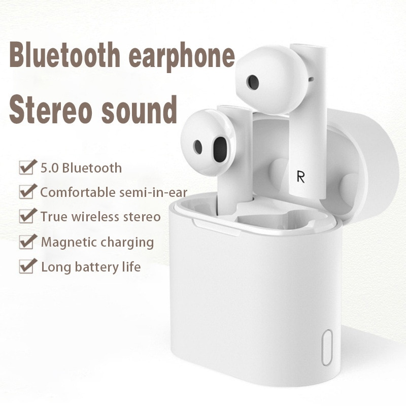 M6 Bluetooth Headset TWS True Wireless Binaural 5.0 Stereo Motion Intelligent Voice Anti-Noise bluet